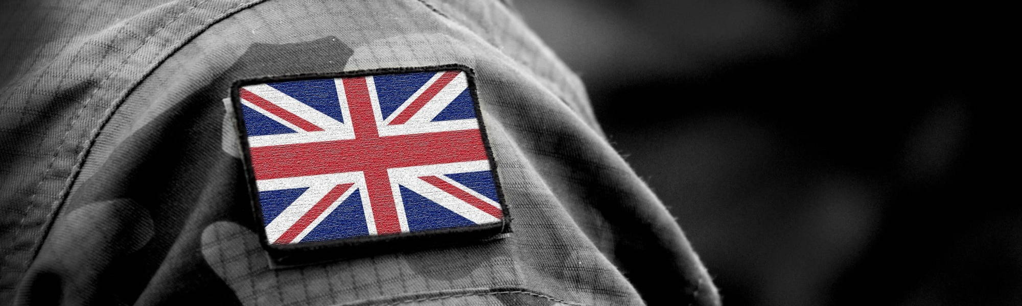 Union Jack on Armed Forces Uniform